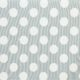 HomeDecor - białe grochy 4,5cm na szarym tle