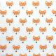 Pomarańczowe liski na białym tle