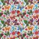 Kolorowe motyle na białym tle