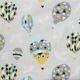 Balony na jasnoszarym tle