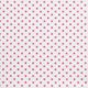 Różowe kropki 8mm na białym tle