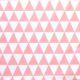 Różowe trójkąty na białym tle